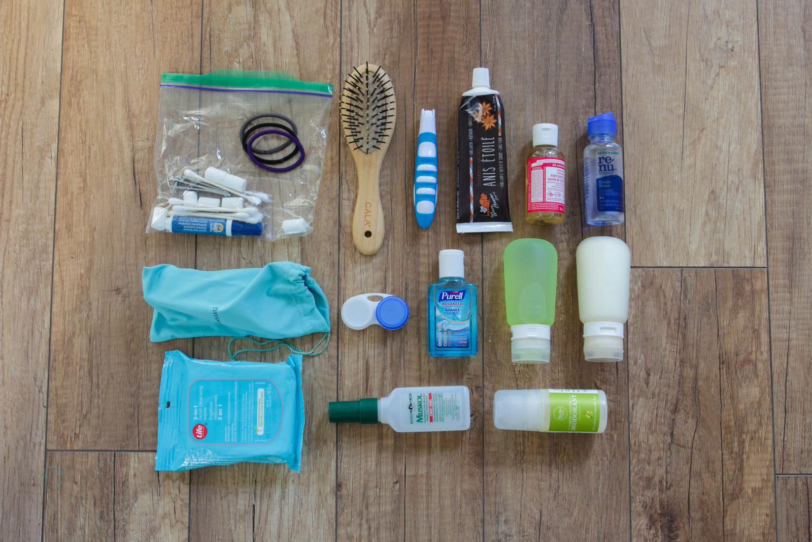 Toiletries. Packing for a ski season - essential checklist for seasonaires.