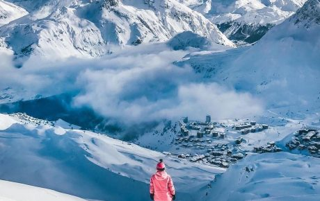 Tignes. Snowfall for the New Year